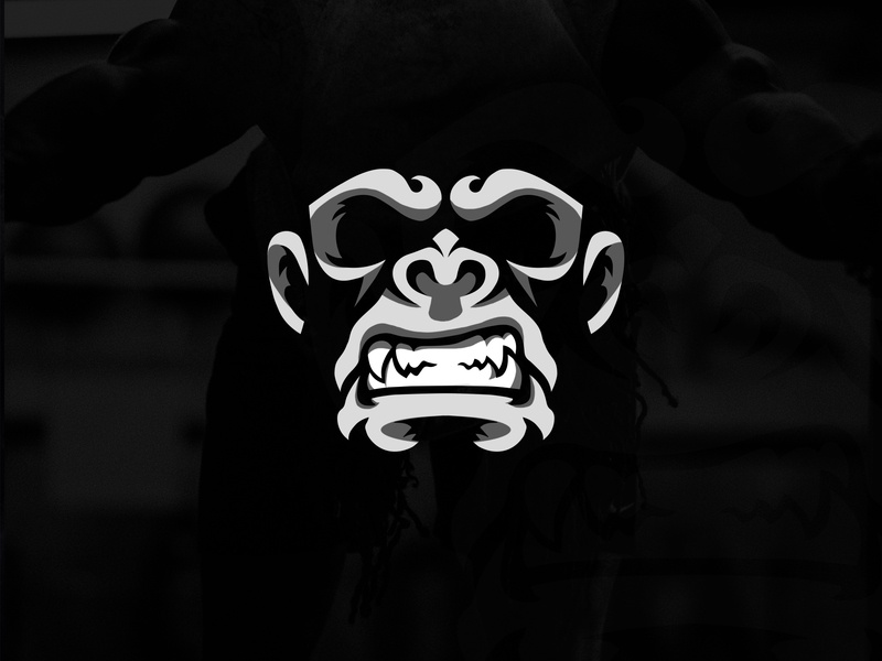 Mad Gorilla Logo design adobe illustrator vector branding photoshop design mad ape gorilla simbol logo