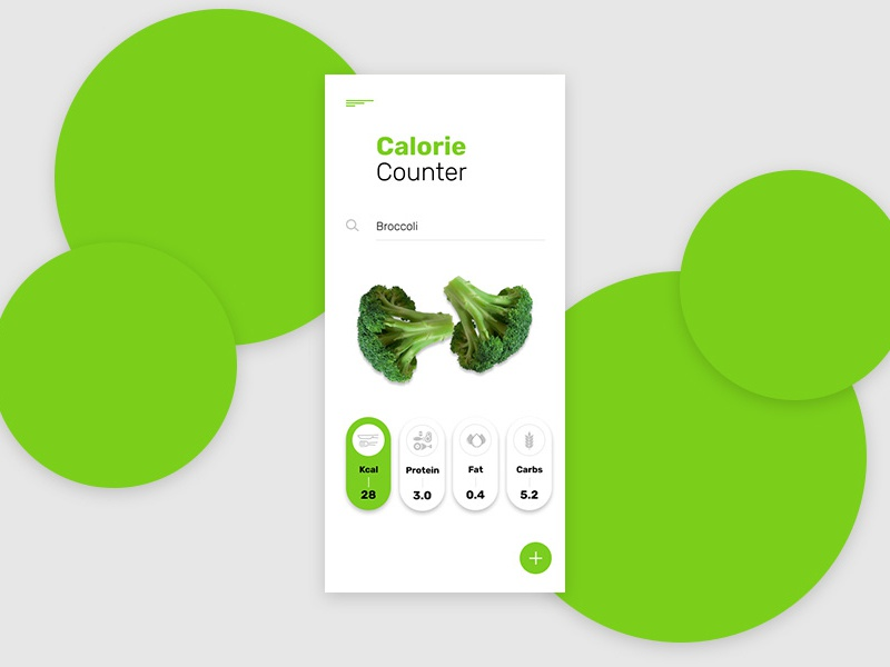 Calorie Calculator protein fat calorie design daily ui 004 daily 100 challenge dailyui 004 004 calories counter calculator vegetable vegan food app dailyui ui web design