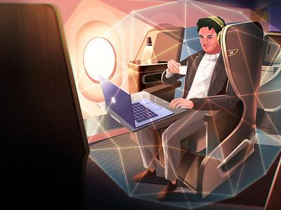 Turkish Airlines Illustrations 11 digital art character design plane color conceptart background nature landscape digitalart artwork illustration