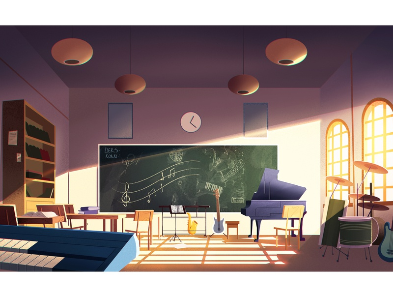 Classroom education art conceptart background design classroom school digitalart artwork illustration