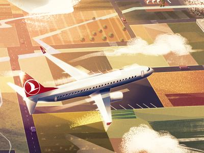 Turkish Airlines animation hospital landscape nature digitalart conceptart art artwork illustration background