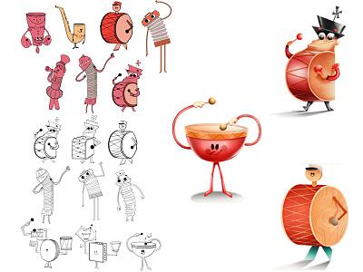 instrumental Characters band music instrumental character design digitalart conceptart art artwork illustration