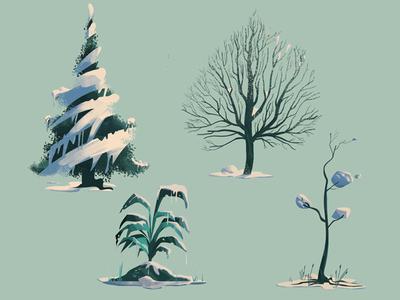 Plants II environment landscape nature digitalart conceptart art artwork illustration background