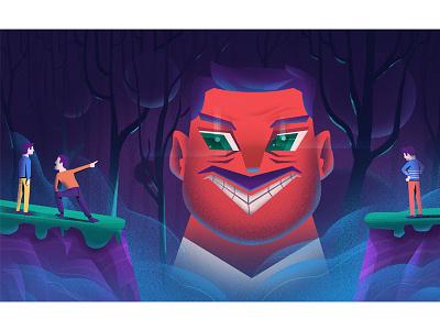 Bad Guy! flat graphic design eye illustration monochrome dark man bad