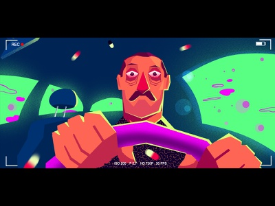 INSOMNIA! character animation driving car sleepless insomnia