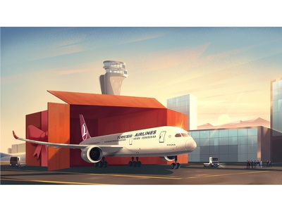 Turkish Airlines Illustrations  03 color conceptart digital art design background digitalart nature landscape artwork illustration