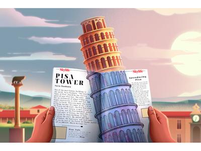 Turkish Airlines Illustrations 05 digital art character design color conceptart background digitalart nature landscape artwork illustration