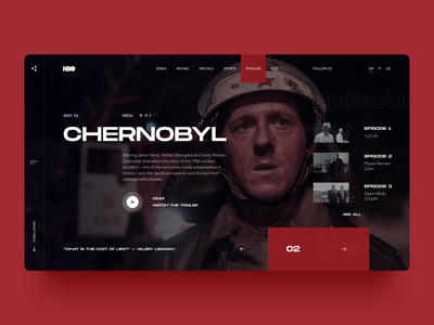 HBO Redesign website web ux ui web design trends popular redesign series tv series chernobyl hbo
