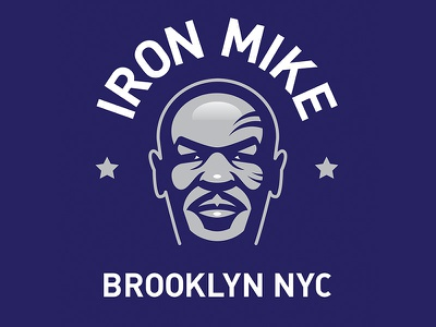 Iron Mike Tyson brooklyn boxing tyson sports portrait vector icon illustration