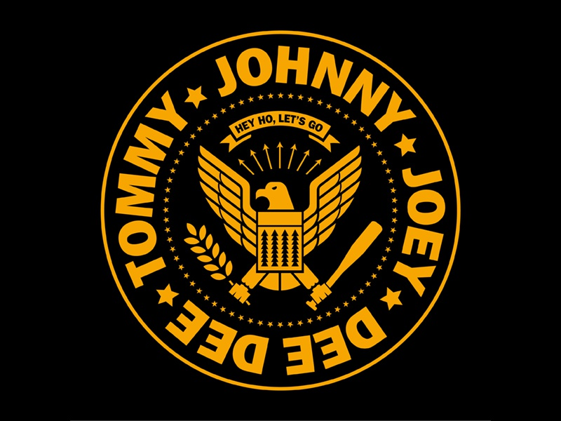 Ramones Logo no disrepect johnny illustration design arturo vega punk logo ramones