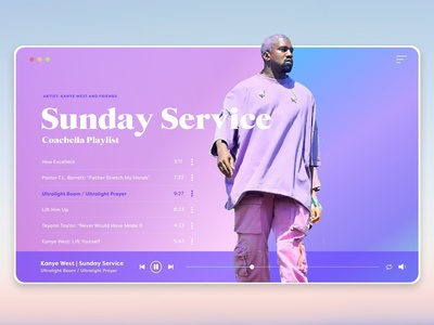 Sunday Service | Music Player Desktop Design