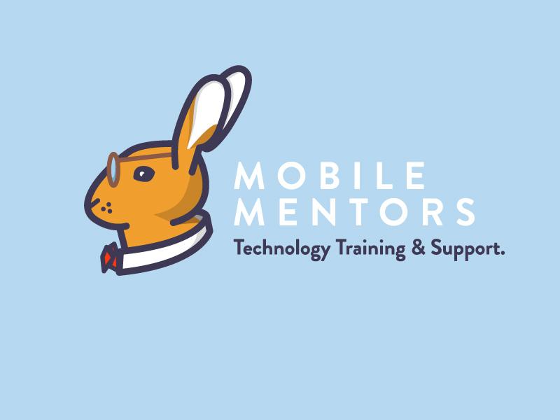Mobile Mentors Final coaching mobile tech smart ears glasses bowtie animal blue rabbit