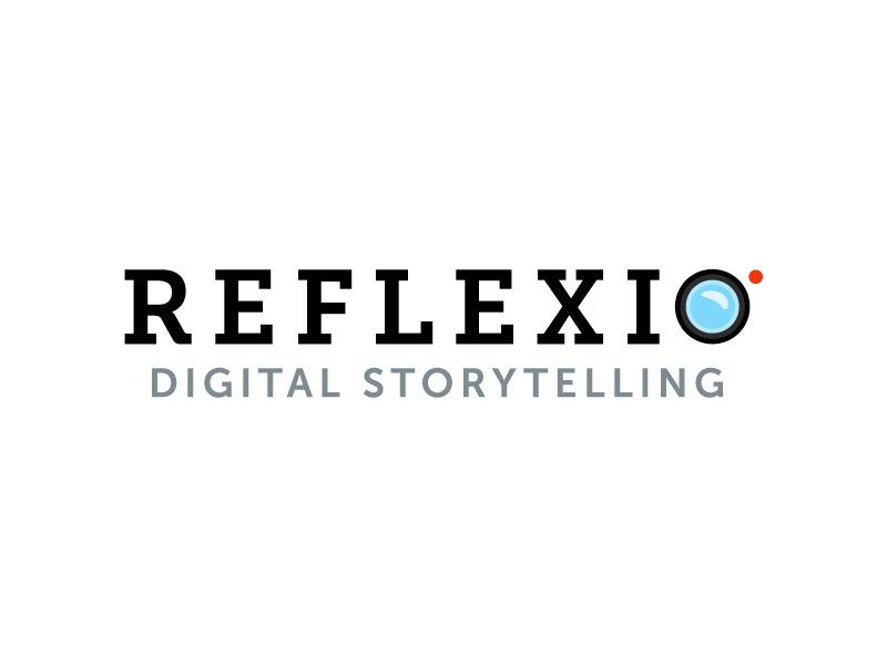 Reflexio camera icon illustration branding logo recording slab serif record lens videographer video videography