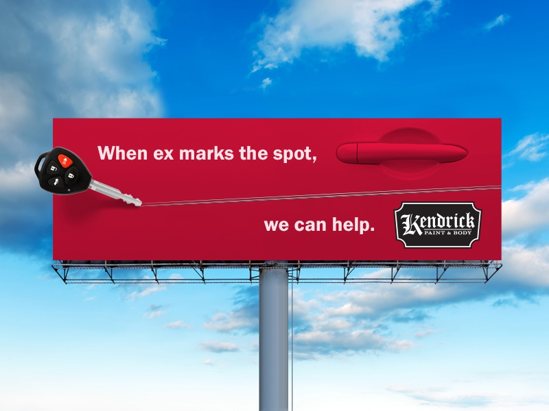 When Ex Marks the Spot scratch outdoor car ad advertisement advertising key billboard body shop