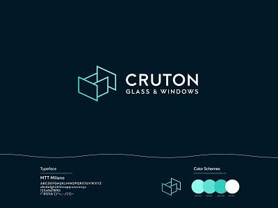 CRUTON Logo c letter glass window flat clean identity icon abstract logo vector branding brand logo brand design