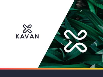 KAVAN k logo creative clean corporate brand modern logo