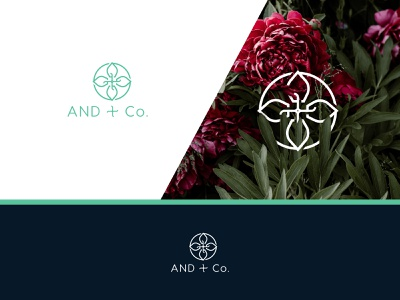 AND + Co. corporation flower and design logo