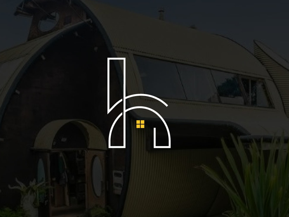 H  Letter Camping Logo brand design design home logo home app home loan