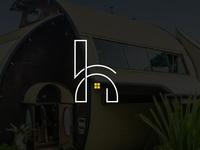 H  Letter Camping Logo