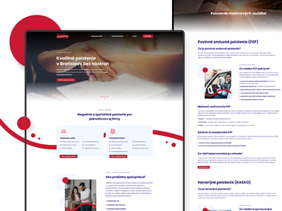 Poisti sa - web design insurance company insurance portfolio site portfolio presentation colorful typography color ui website ux web minimalist design