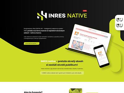 INRES native - landing page onepage landing page landingpage green typography colorful ui website ux web design