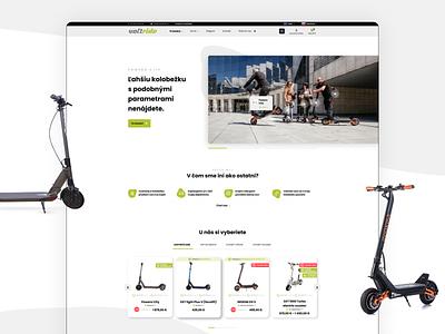 Voltride e-shop product page product shop emobility scooter e-commerce e-shop eshop colors branding ui website ux web minimalist design