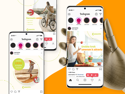 Carnomed - social media indentity healthy lifestyle healthy social network social media design social media social presentation colors colorful typography color branding design