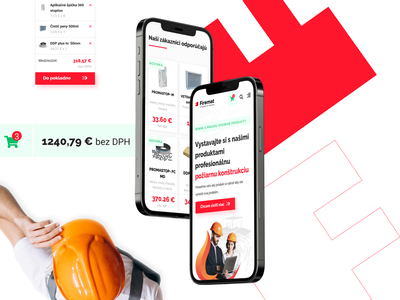 Fireproof materials - e-shop ui ux design