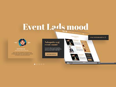 Eventlads website mood vintage blog design blog ui components ui component design branding event agency event website web ux ui