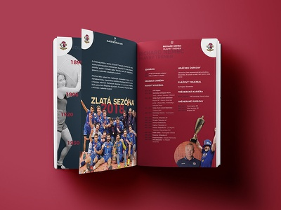 Volleyball club Prievidza - book sport branding sport book sport volleyball volley full color color semi-flat semi flat semiflat flat vector minimalist branding design