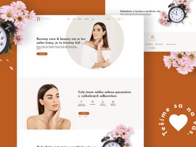 Beauty salon website concept