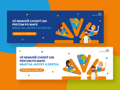 SIV web banners language school language logotype typeface vector colors colorful typography illustration color ui website web minimalist design