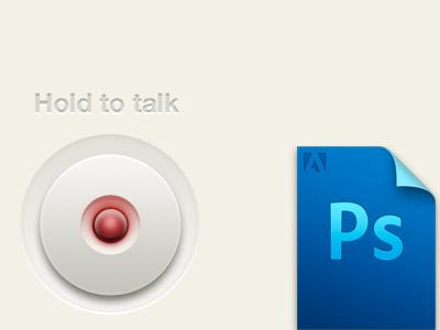 Freebie PSD: Hold to talk Button freebie psd button press ios ipad talk iphone