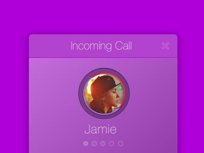 Incoming Call Sketch file  sketch app incoming call purple flat ios ipad profile