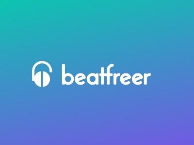 Beatfreer music logo beat bitcoin