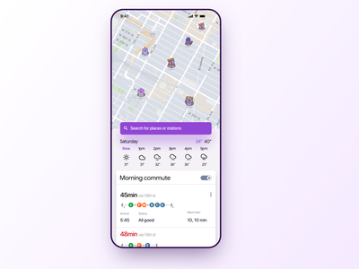 Pigeon app now with weather ux design app weather mta train interface ui