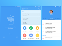 Material android application onboarding