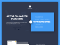 Active Collab for designers landing page