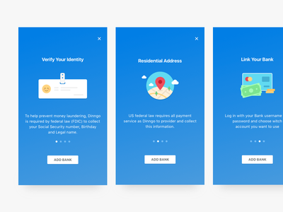 Welcome Onboarding Add Bank  design icons illustration mobile application ui ux ios flat icon color