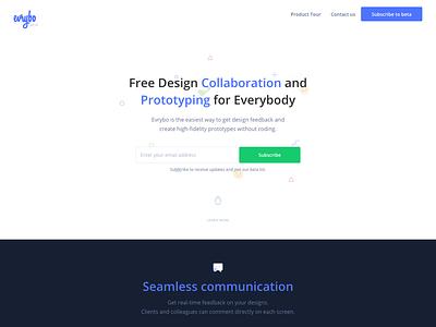 Evrybo Landing Page product design ux ui illustration web landing page
