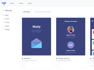 Evrybo Sneak peek product application mobile ios profile pages collaboration design ux ui