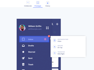Prototyping Evrybo Sneak peek ui ux design collaboration pages profile ios mobile application product