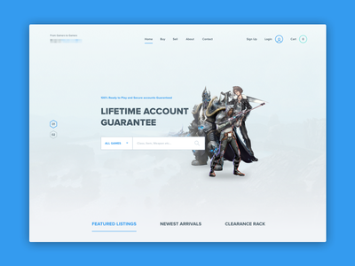 Game Landing Page characters flat minimal illustration landing page ui ux sketch webdesign
