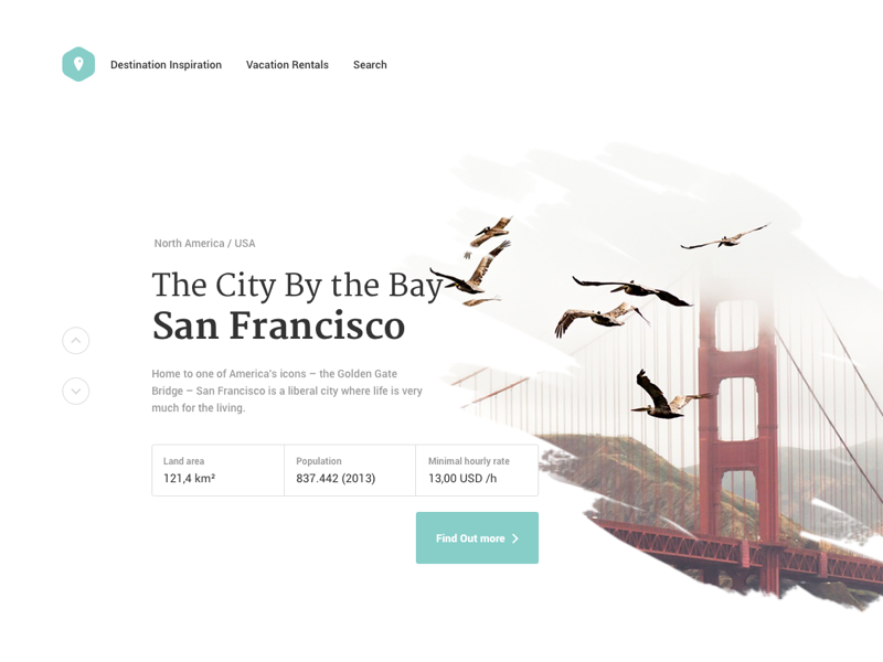 City details landing page webdesign sanfrancisco search ux. ui landing page