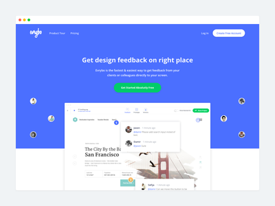 Evrybo Landing page  share icons product design ux ui illustration web landing page collaboration