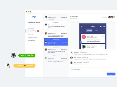 Conversation Catch Up app ux ui chat design evrybo notification minimal webdesign