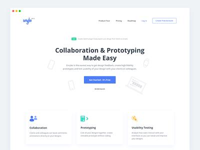 Landing page - Evrybo website landing ui icon minimal landing page evrybo app webdesign