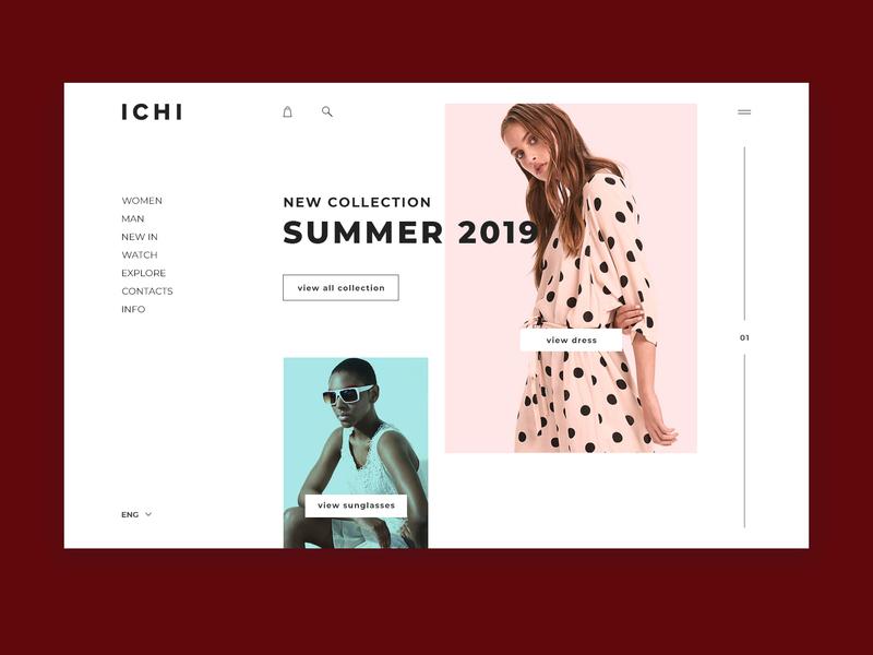 ICHI minimal website web ux ui design