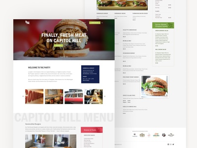 Good Stuff Eatery Menu System burgers fresh ux ui website menu system restaurant food