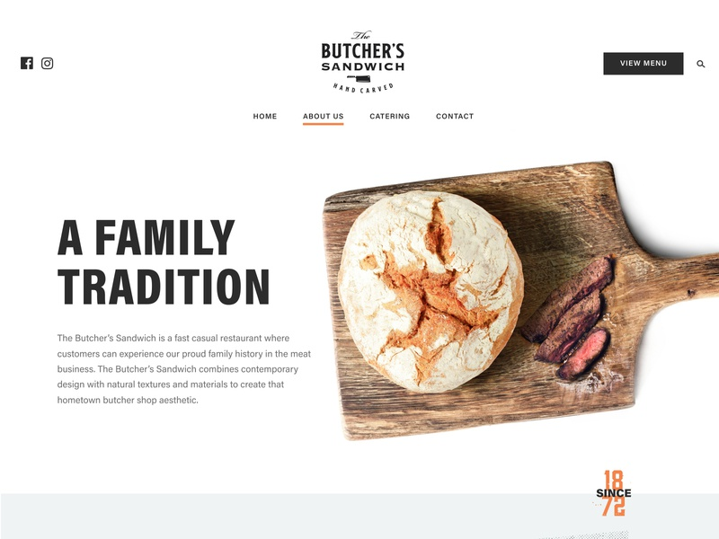 Butchers Sandwich Hero figma photoshop photography stamp hero restaurant food marketing design web design web brand ux ui